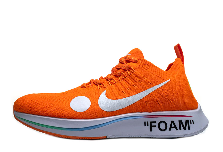 OFF-WHITE x Zoom Fly Mercurial Flyknit 'Total Orange' AO2115 800