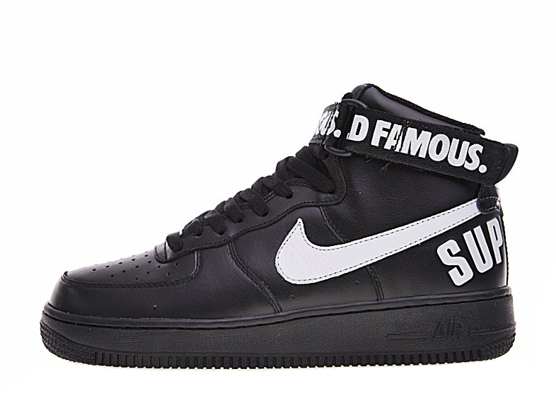 Air Force x Supreme 1 High SP 'Black' 698696 010