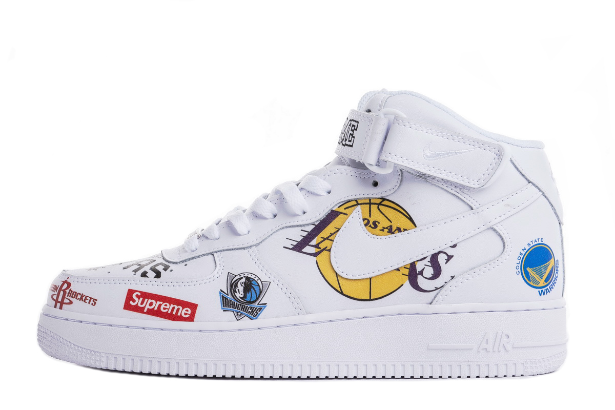 Supreme x NBA x Air Force 1 Mid 07 'White' AQ8017 100