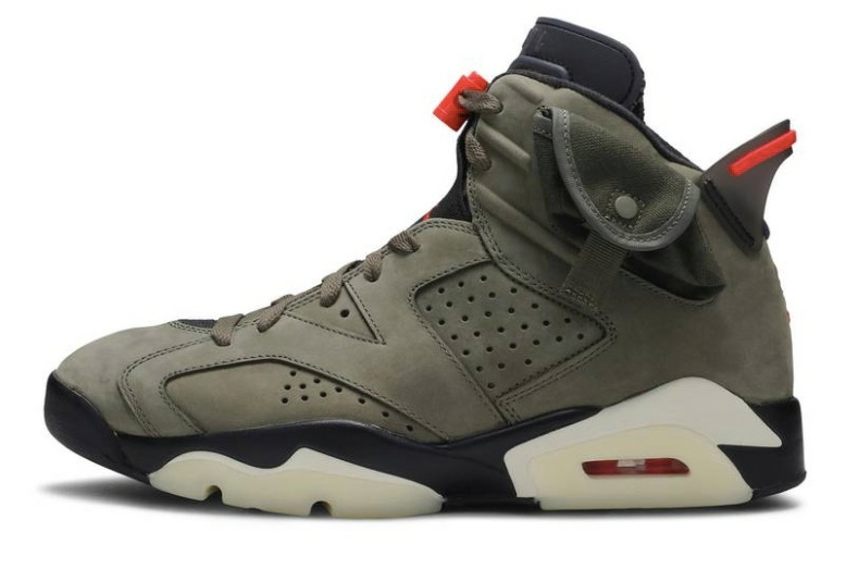 Travis Scott x Air Jordan 6 Retro 'Olive' CN1084 200