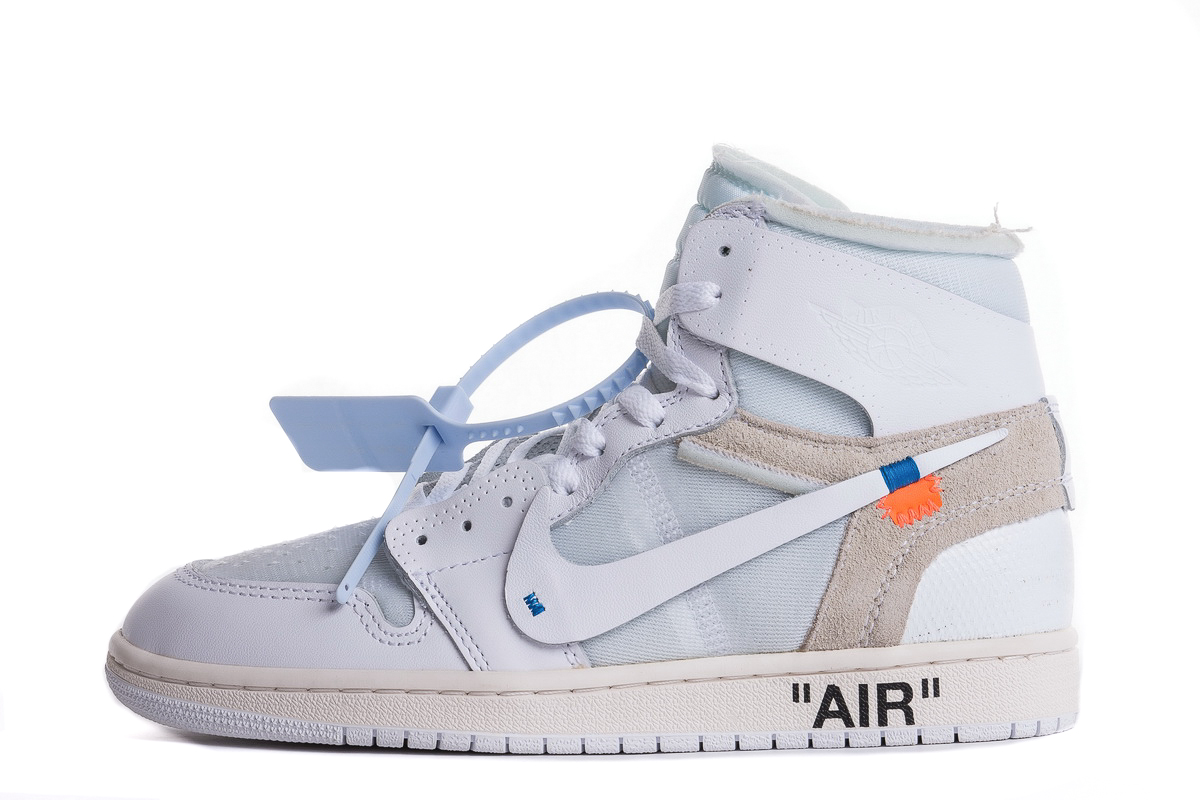 OFF WHITE x Air Jordan 1 Retro NRG 'White' AQ0818 100