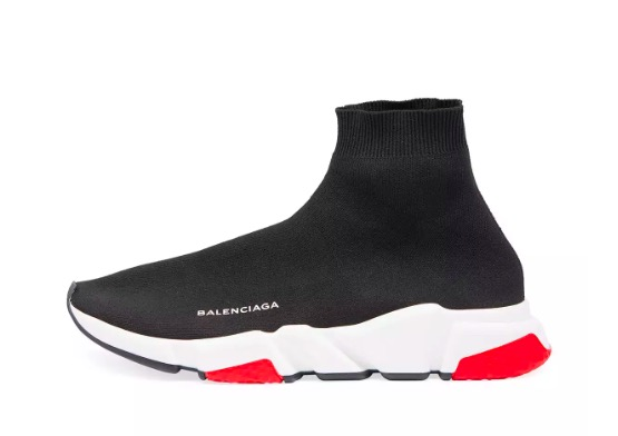 Balenciaga Speed Trainer Mid 'Black Red' 506335 W05G0 1000