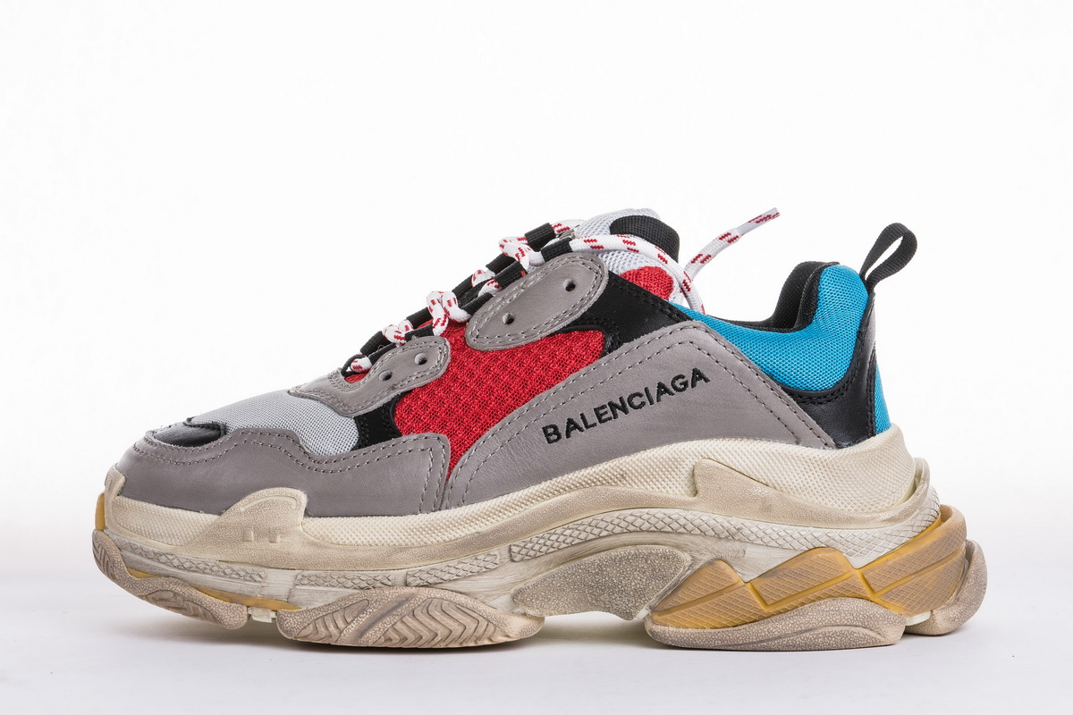 Balenciaga Triple S Trainer 'Blue Red' 483513W06E34365