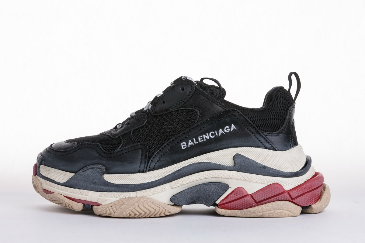 Balenciaga Triple S Trainer 'Black Red' 483513W06E11000