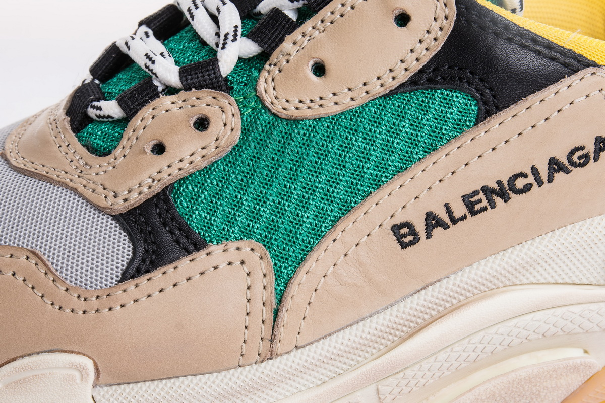 Balenciaga Triple S Trainer 'Yellow Green' 483513W06E37070