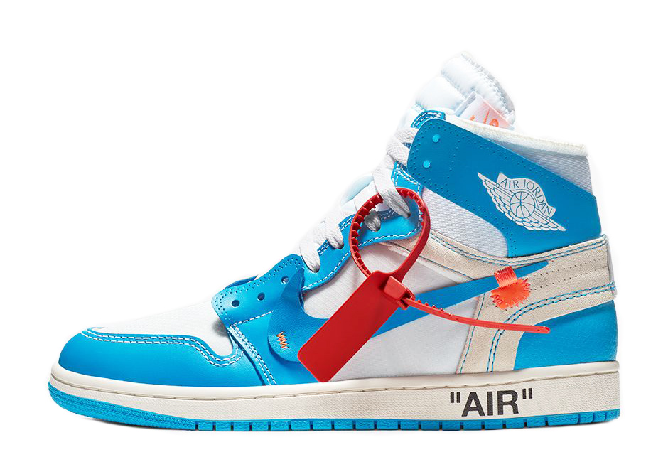 OFF-WHITE x Air Jordan 1 Retro High OG 'UNC' AQ0818 148